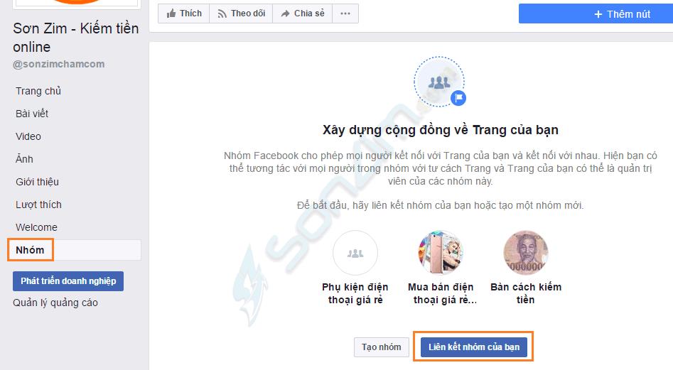 Hướng dẫn liên kết trang Fanpage với group (nhóm) Facebook - 4