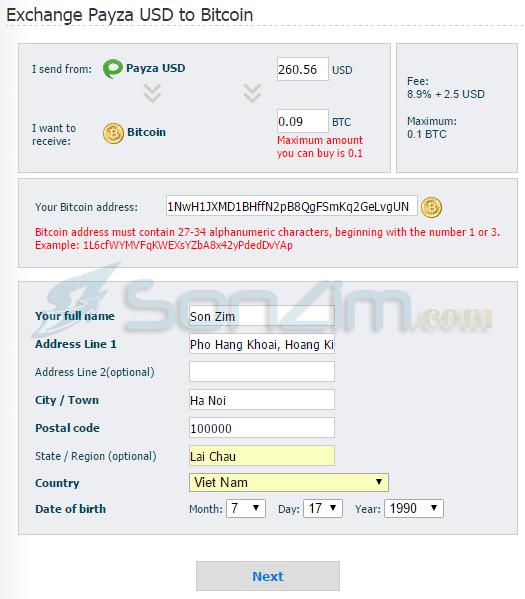 Cách mua Bitcoin bằng Payza trên Goldux - 5