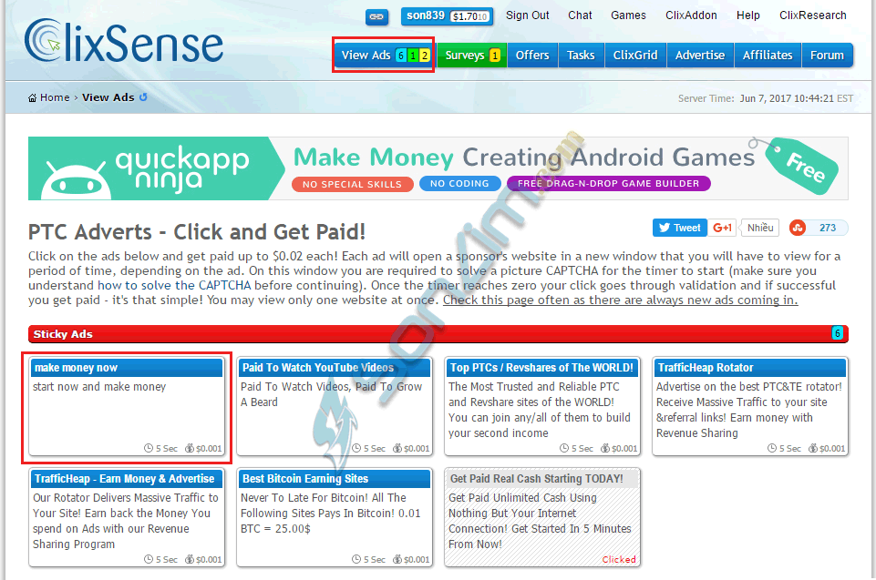 Cách kiếm tiền với ClixSense - 2