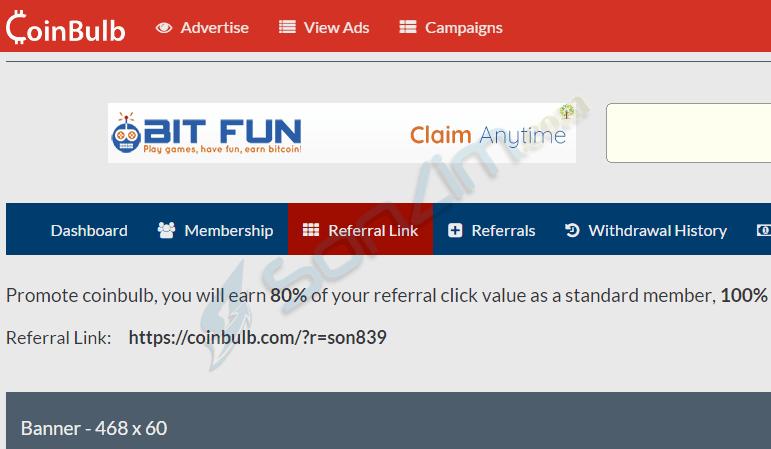 Kiếm bitcoin miễn phí trên CoinBulb bằng cách click quảng cáo - 5