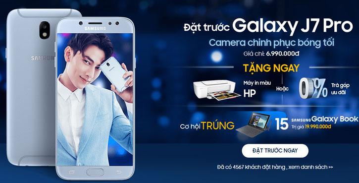 Khuyến mại FPT Shop - Đặt trước Galaxy J7 Pro nhận ngay máy in màu HP