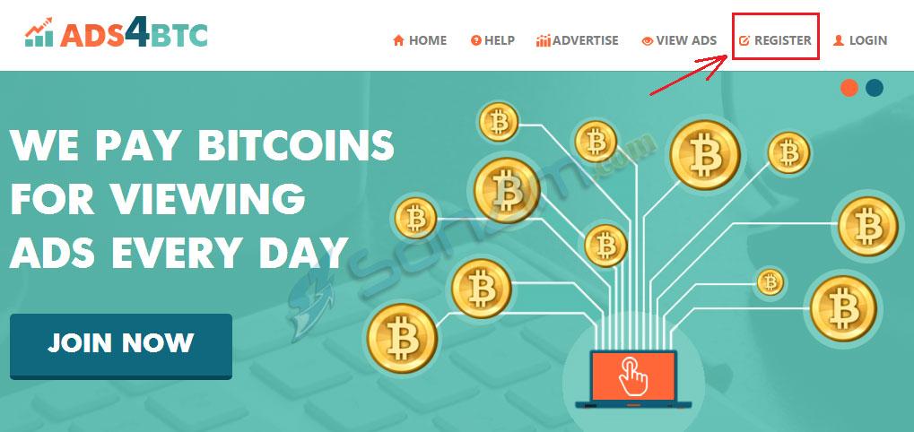 Click quảng cáo kiếm bitcoin miễn phí trên Ads4btc - 1