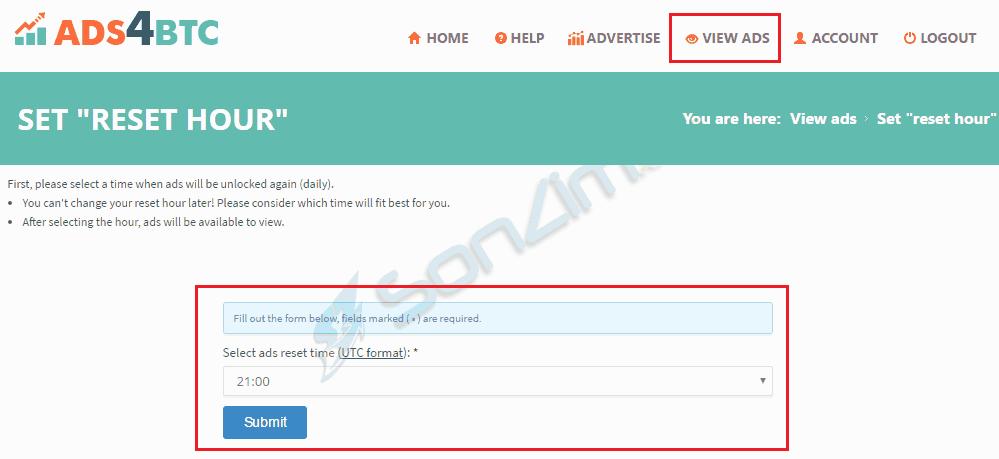 Click quảng cáo kiếm bitcoin miễn phí trên Ads4btc - 4