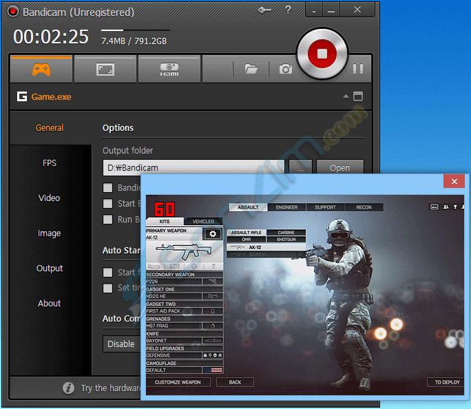 Bandicam - Top 5 phần mềm chụp và quay video màn hình tốt nhất