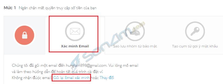 Xác minh email bảo mật blockchain