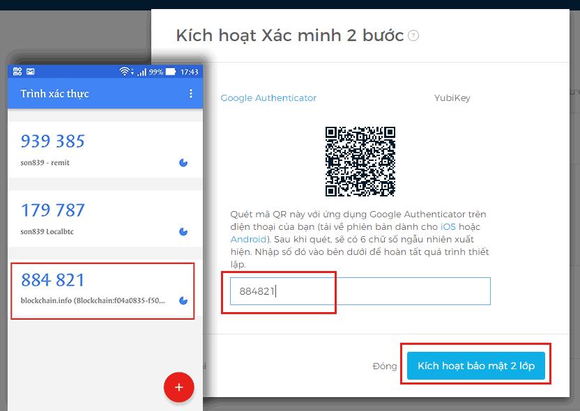 Xác minh 2 bước cho tài khoản Blockchain - 17