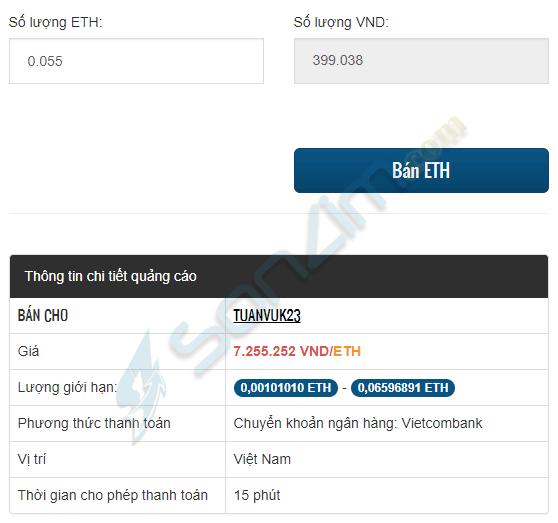 Các bước mua ETH trên sàn Remintano - 10