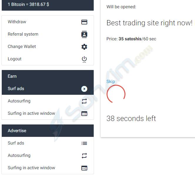 Xem quảng cáo kiếm Bitcoin đơn giản trên AdBTC - 10