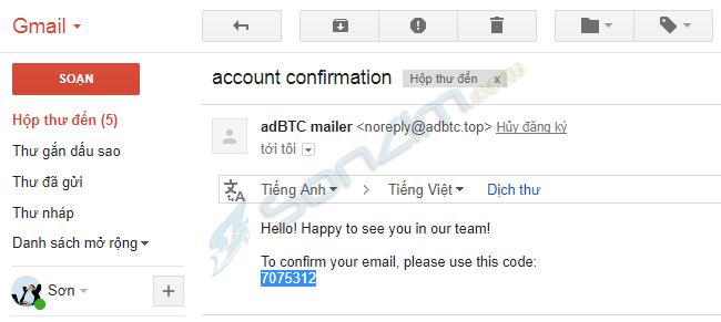 Xem quảng cáo kiếm Bitcoin đơn giản trên AdBTC - 4