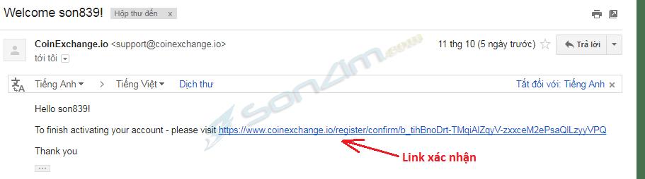 Đăng ký tài khoản tại sànCoinExchange - Bước 4