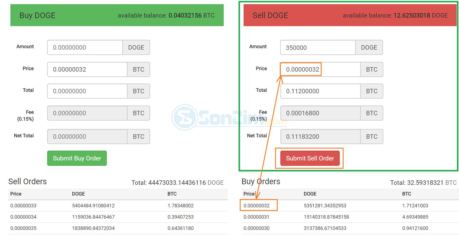 Cách bán coin trên sàn CoinExchange - Bước 2