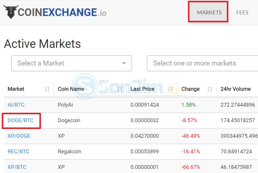 Cách bán coin trên sàn CoinExchange - Bước 1