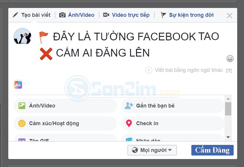 chan nguoi khac dang len dong thoi gian