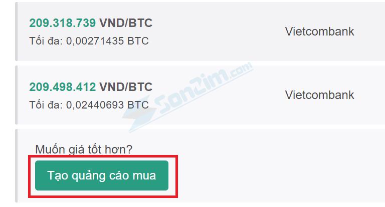 Tạo quảng cáo mua Bitcoin trên Remitano - 1
