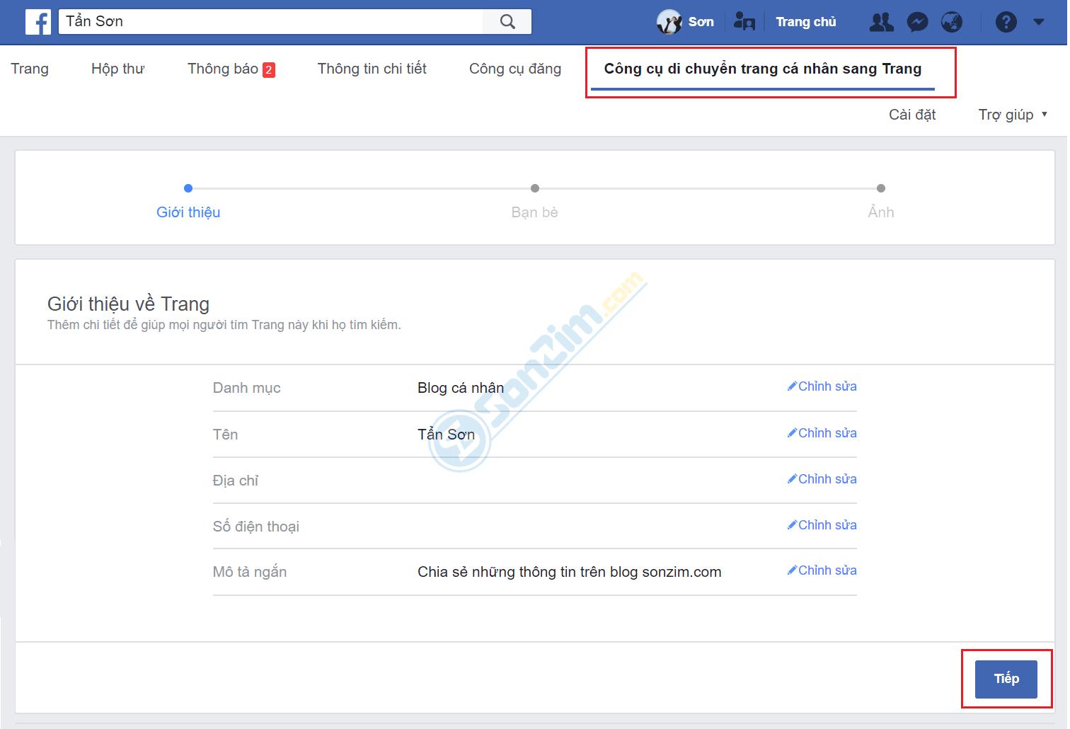 Cách chuyển trang cá nhân thành Fanpage Facebook - Ảnh 2