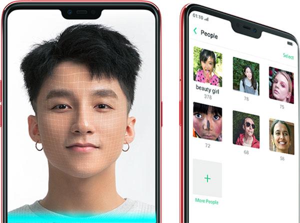Oppo f7 mở khóa bằng nhận diện khuôn mặt
