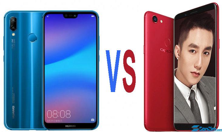 So sánh Oppo F5 và Huawei Nova 3e