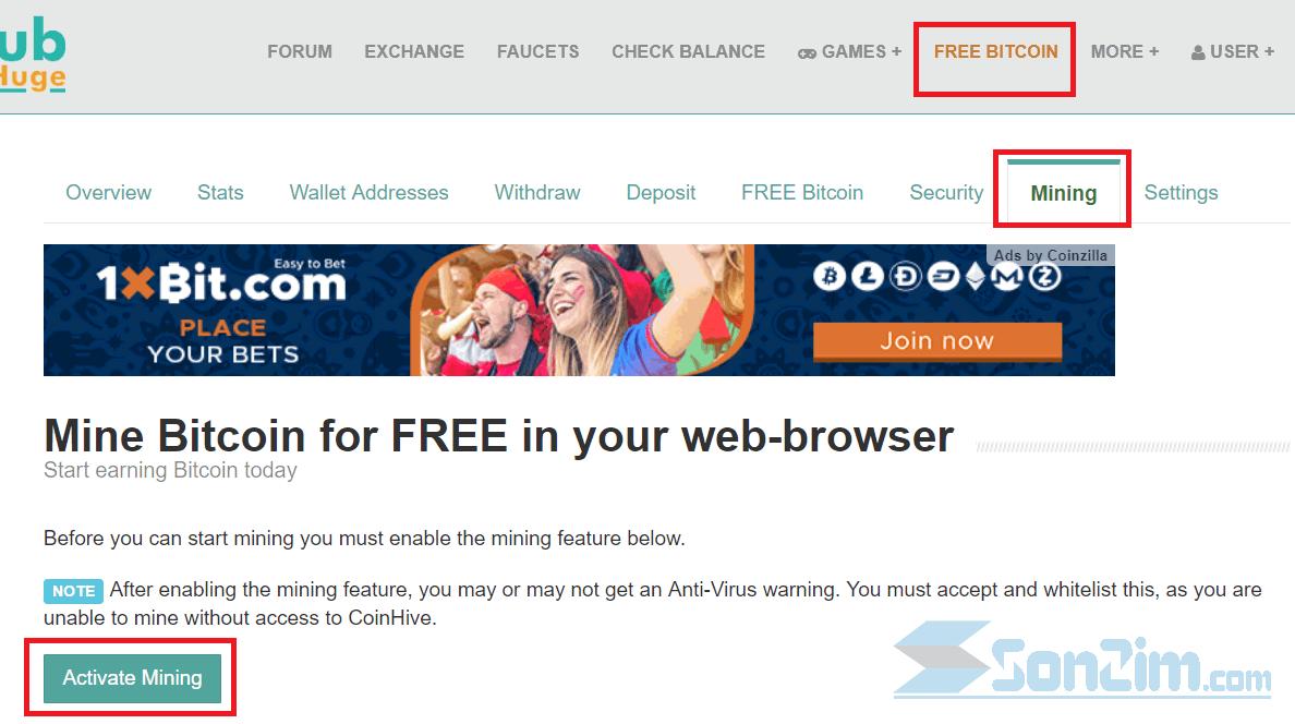 Cách đào bitcoin miễn phí trênFaucetHub - Ảnh 1