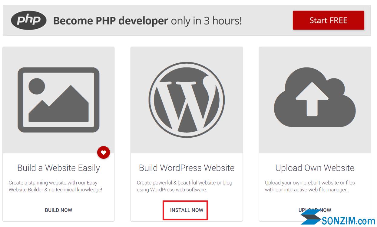 Lập website WordPress với hosting miễn phí 000webhost -Bước 2