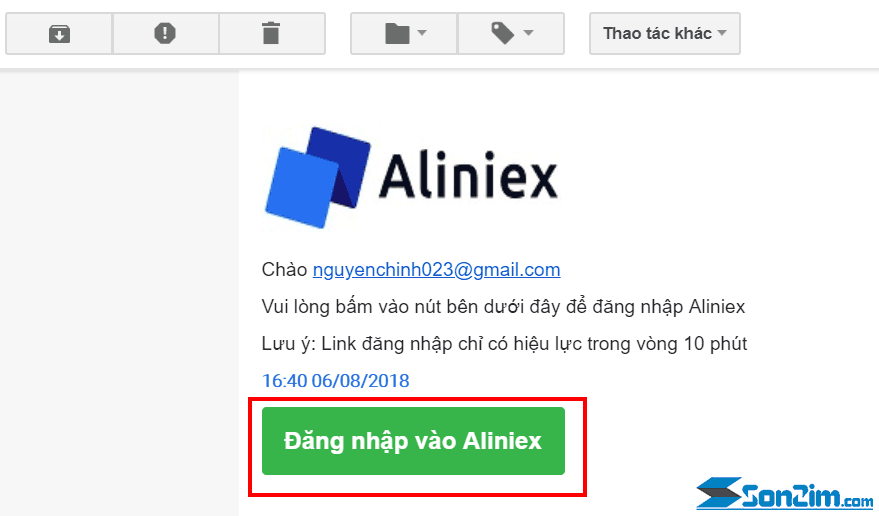 Cách đăng ký tài khoảnAliniex - 2