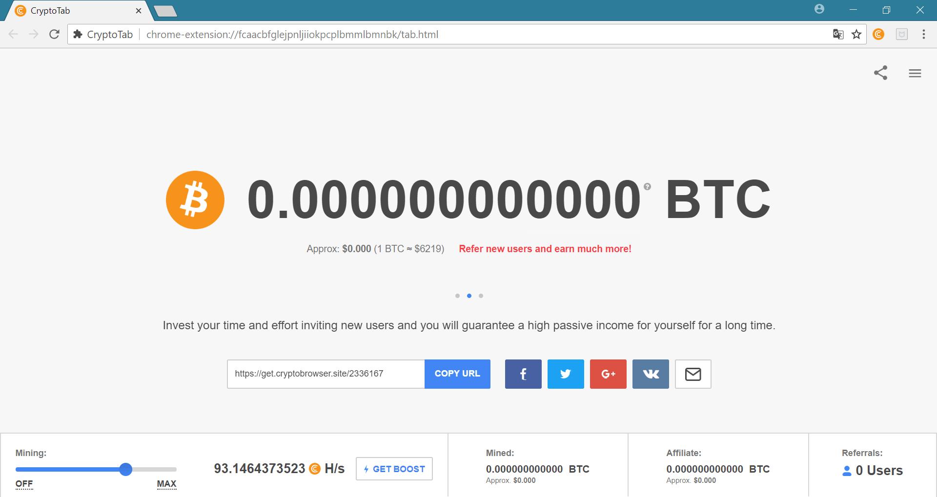 Cách đào bitcoin trên trình duyệtCryptoTab - 3