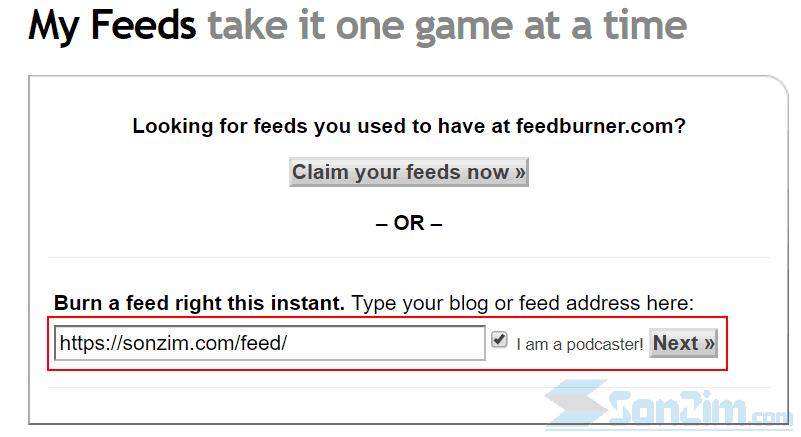 Cách thêm blog vào FeedBurner - Bước 2