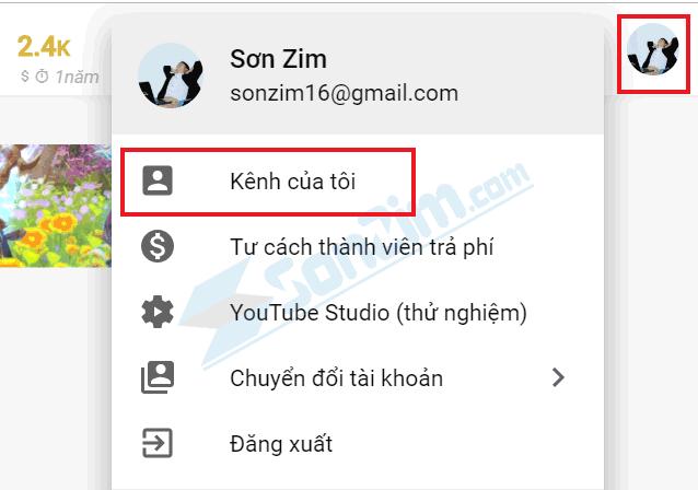 Cách kiểm tra mức độ Spam cho kênh Youtube  - Lấy đường link kênh bước 1