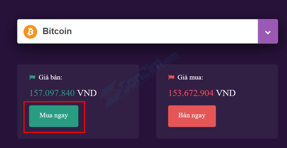 Cách mua Bitcoin trên Remintano - Bước 1