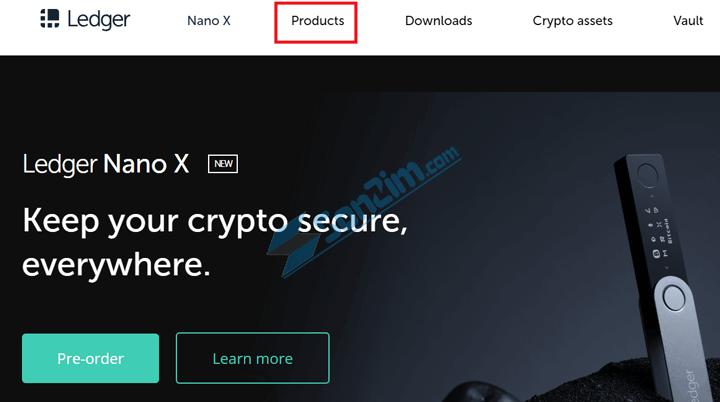 Cách mua ví cứng Ledger Nano S (Blue, X) chính hãng - Bước 1