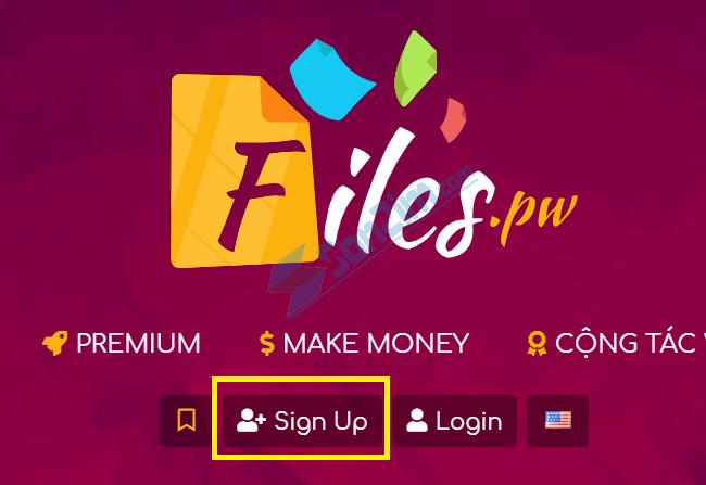 Tạo tài khoản để kiếm tiền với FilesPW - 1