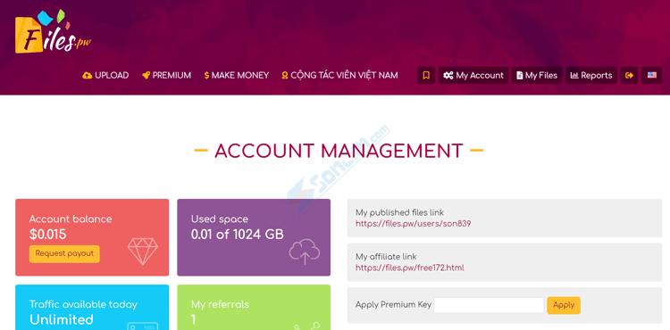 Tạo tài khoản để kiếm tiền với FilesPW - 3