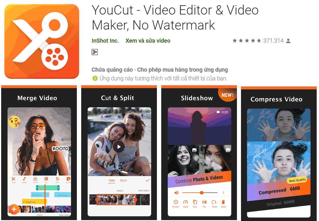 YoutCut - Ứng dụng chỉnh sửa video dành cho điện thoại