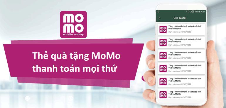 Thẻ quà tặng momo