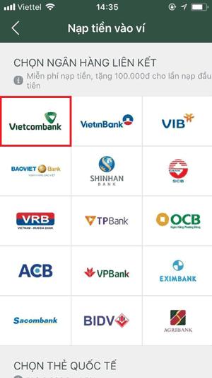 Liên kết MoMo với Vietcombank - 1