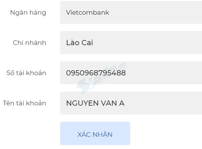 Thêm tài khoản Ngân hàng vào sàn Fiahub - 2