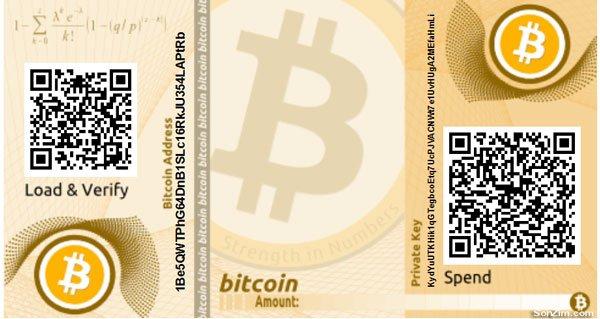 Những loại Ví bitcoin: Ví giấy bitcoin