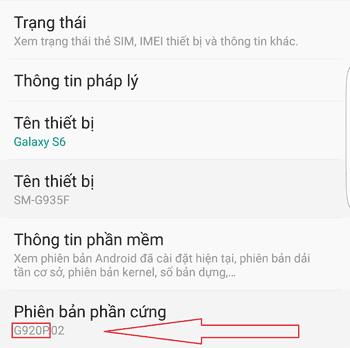 Kiểm tra phiên bản điện thoại