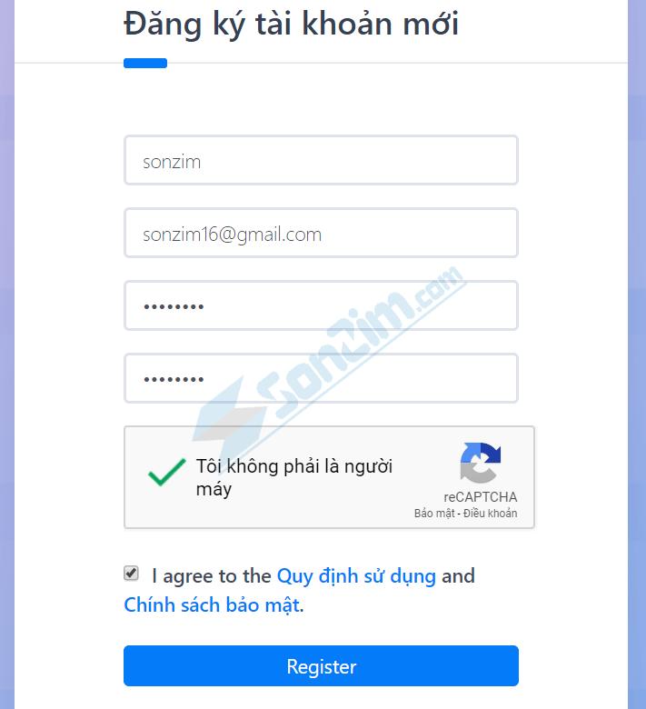 Cách đăng ký tài khoản MegaURLL - Bước 2