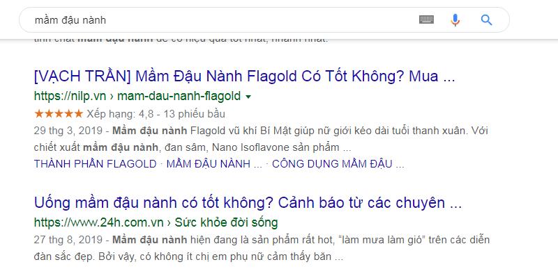 Tìm kiếm Website sử dụng Schema trên Google