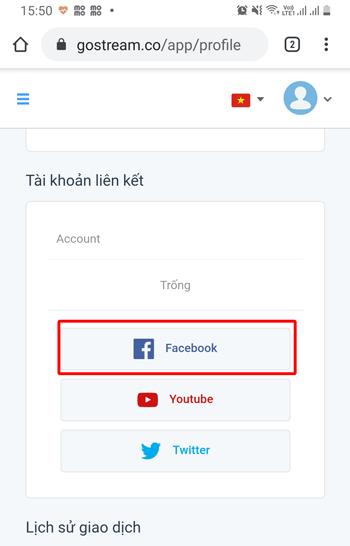 Liên kết Facebook với GoStream - 2