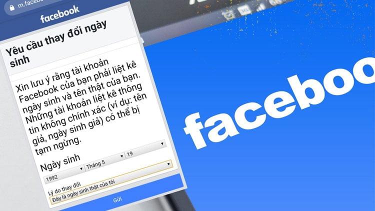 Cách đổi ngày sinh Facebook quá giới hạn