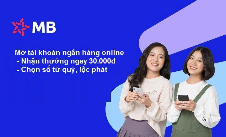 Cách mở tài khoản Ngân hàng online trên MB Bank